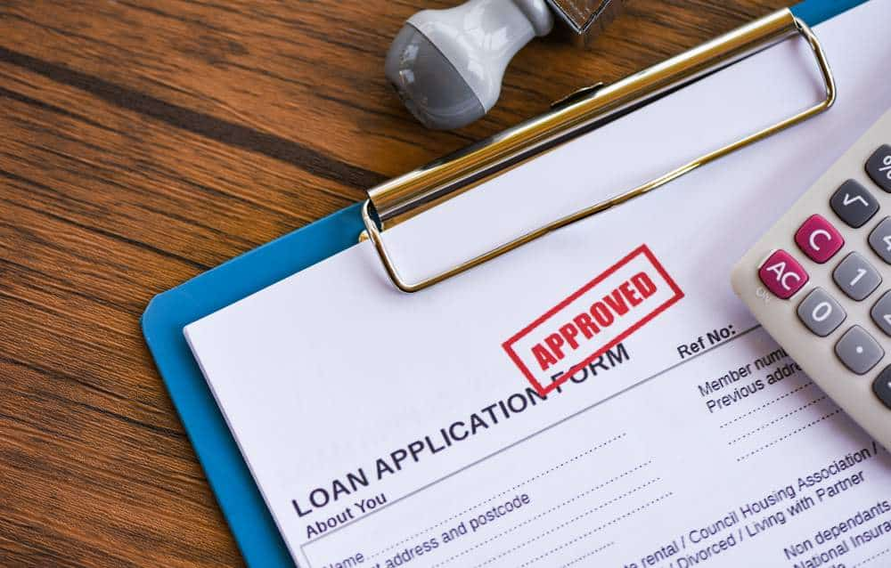 loan application form with approval